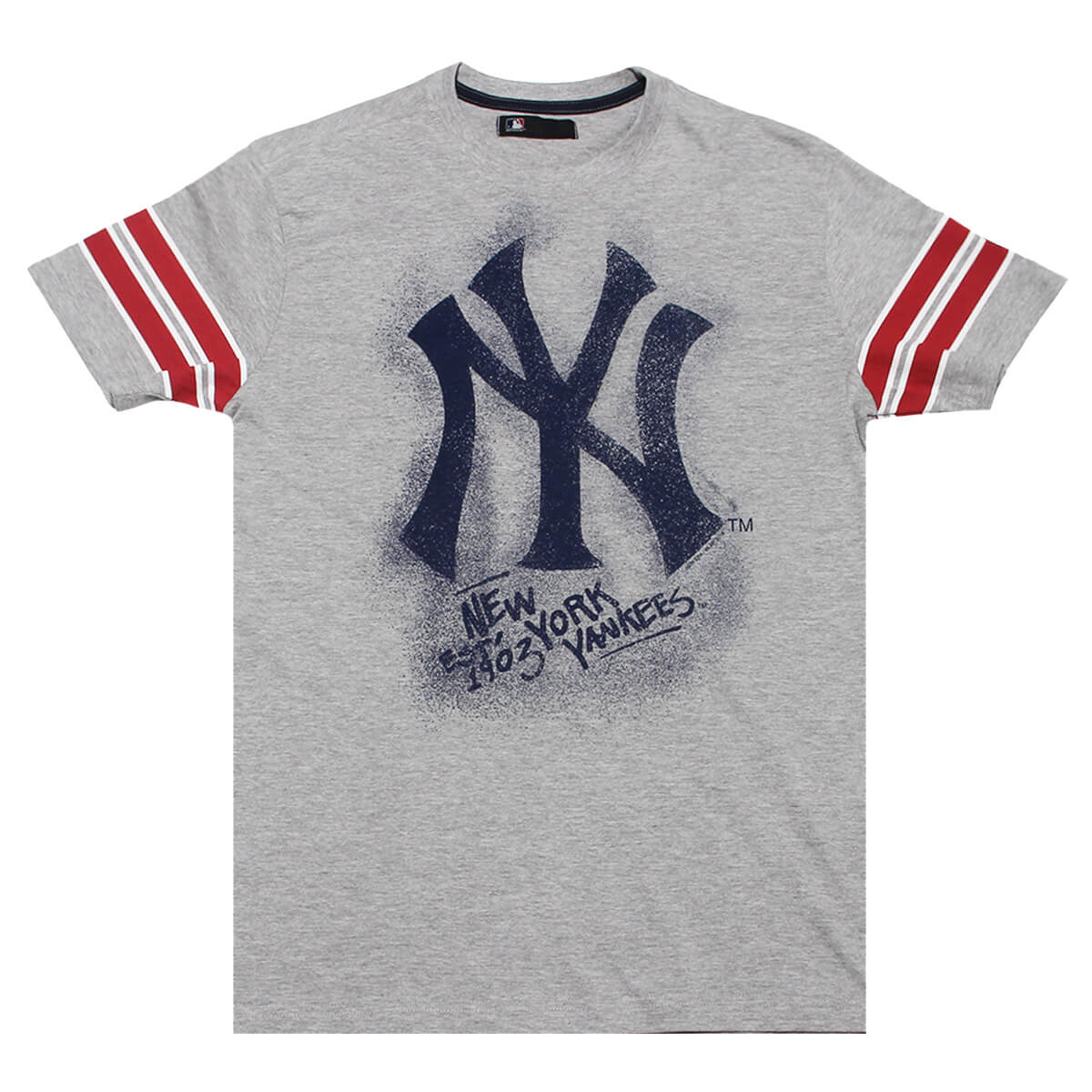 Camiseta New Era MLB NY Yankees Nac Chalk Cinza
