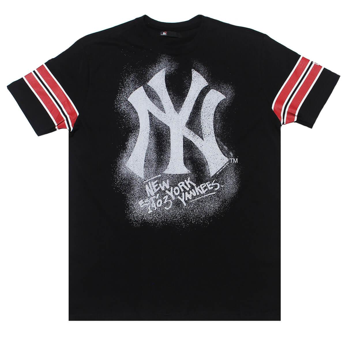 Camiseta New Era MLB NY Yankees Nac Chalk Preto