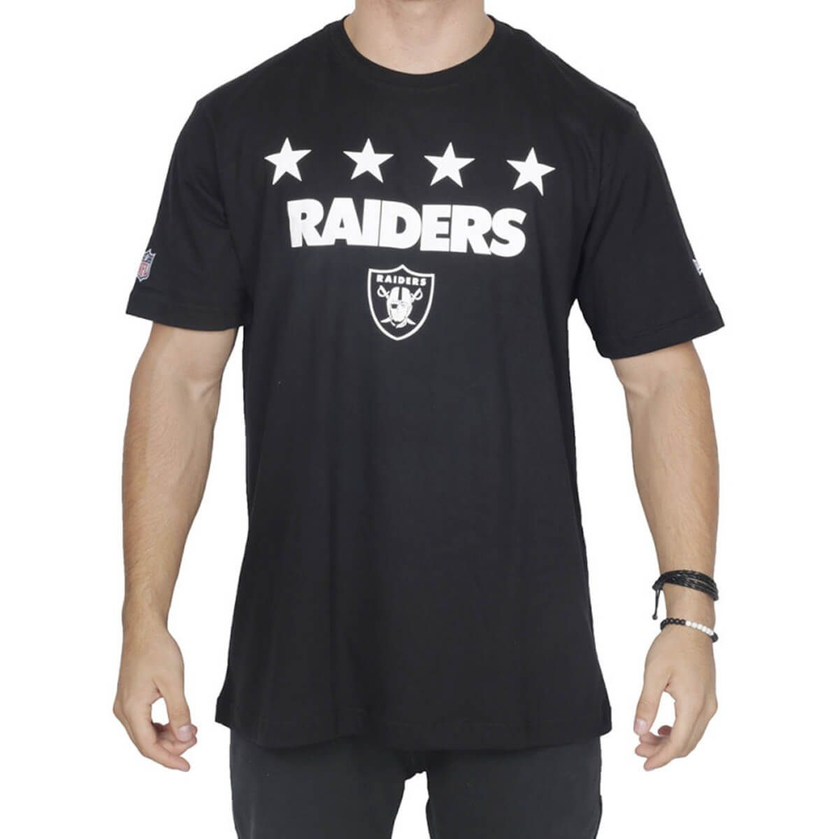 Camiseta New Era NFL Raiders Number Stars
