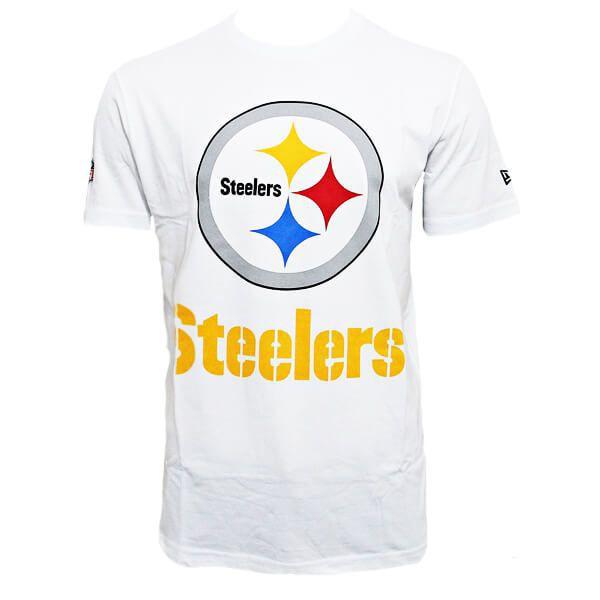 Camiseta New Era NFL Steelers Big Logo Branco