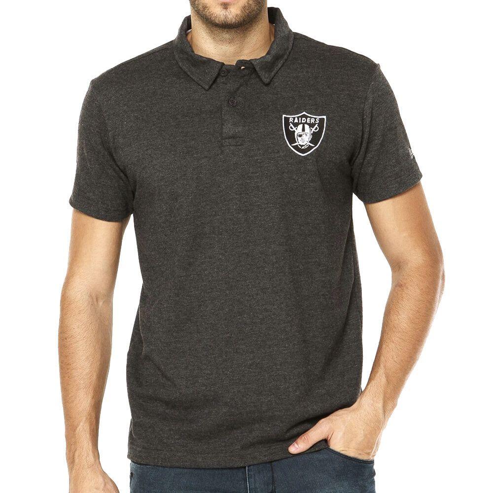 Camiseta New Era Polo NFL Raiders Malhão