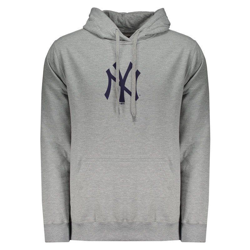 Moletom New Era MLB NY Yankees Canguru Litte Cinza