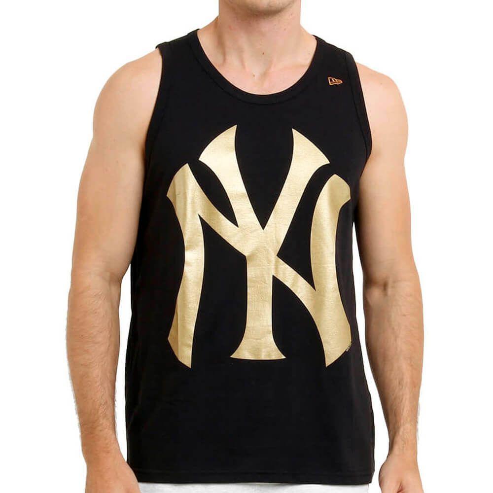 Regata New Era MLB NY Yankees Gold Preto