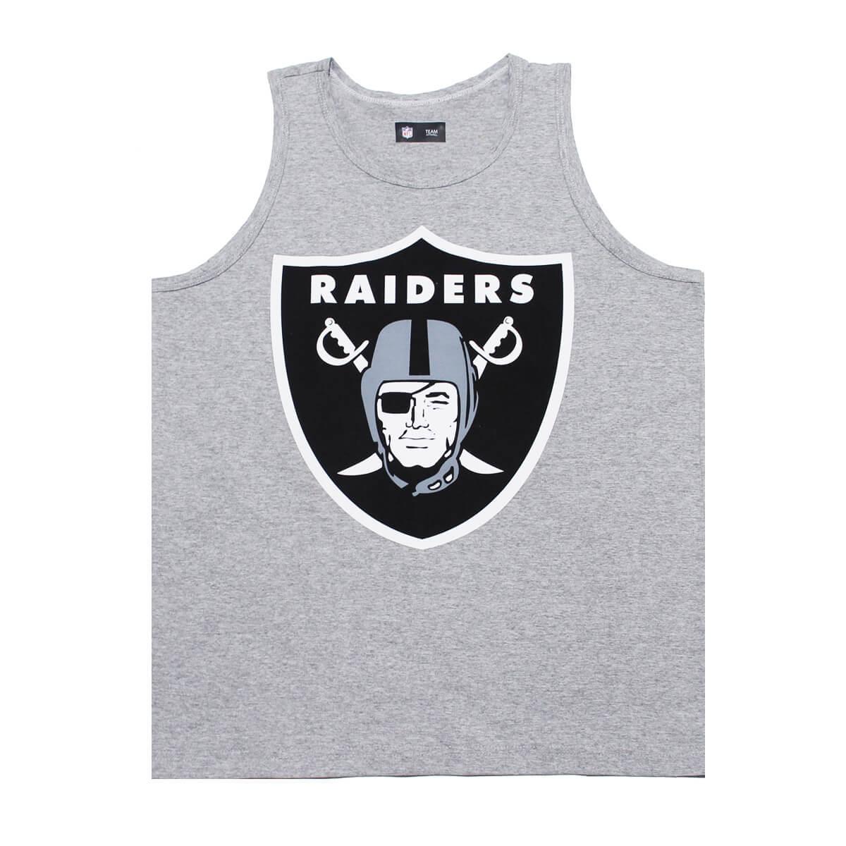 Regata New Era NFL Raiders Big Logo Cinza