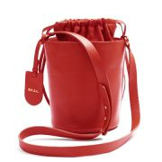 Bolsa Couro Bucket Vermelha