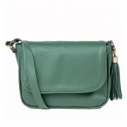Bolsa Couro Pequena Verde Esmeralda