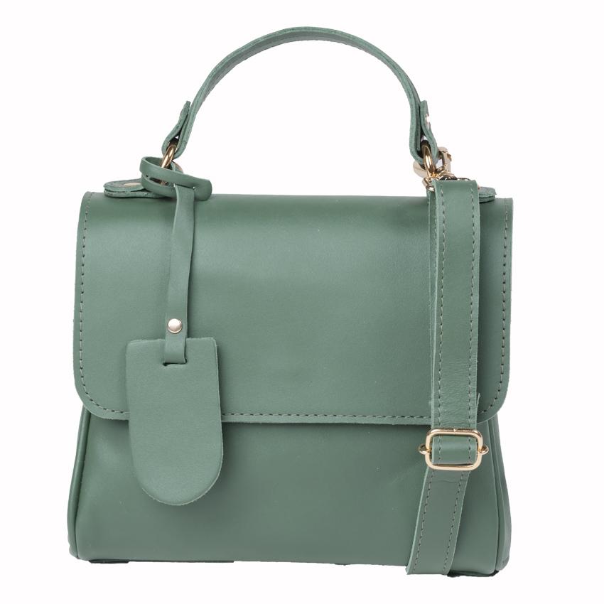 Bolsa Couro Pequena Chloe Verde Esmeralda