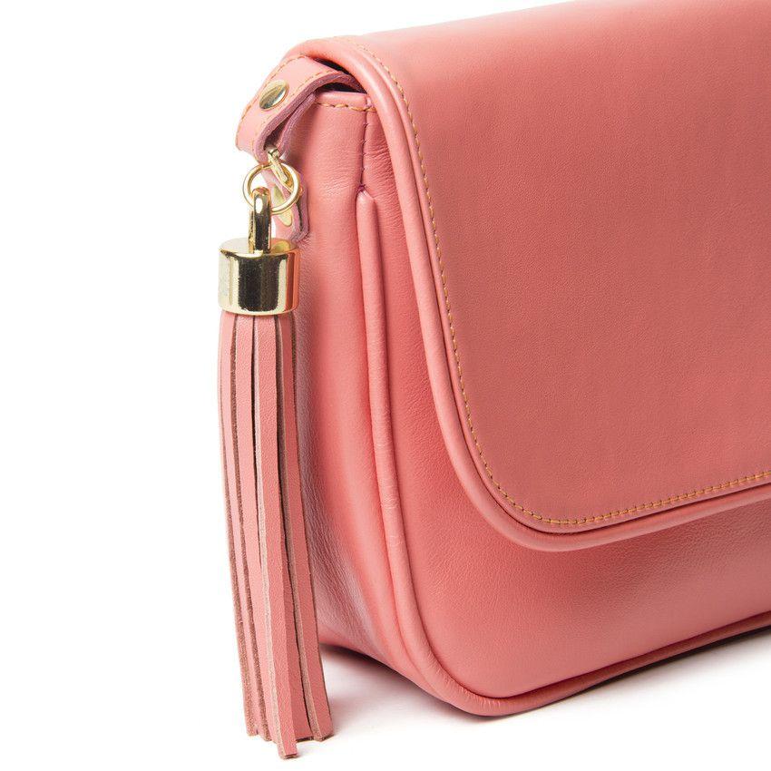 Bolsa Couro Pequena Mini Rosa