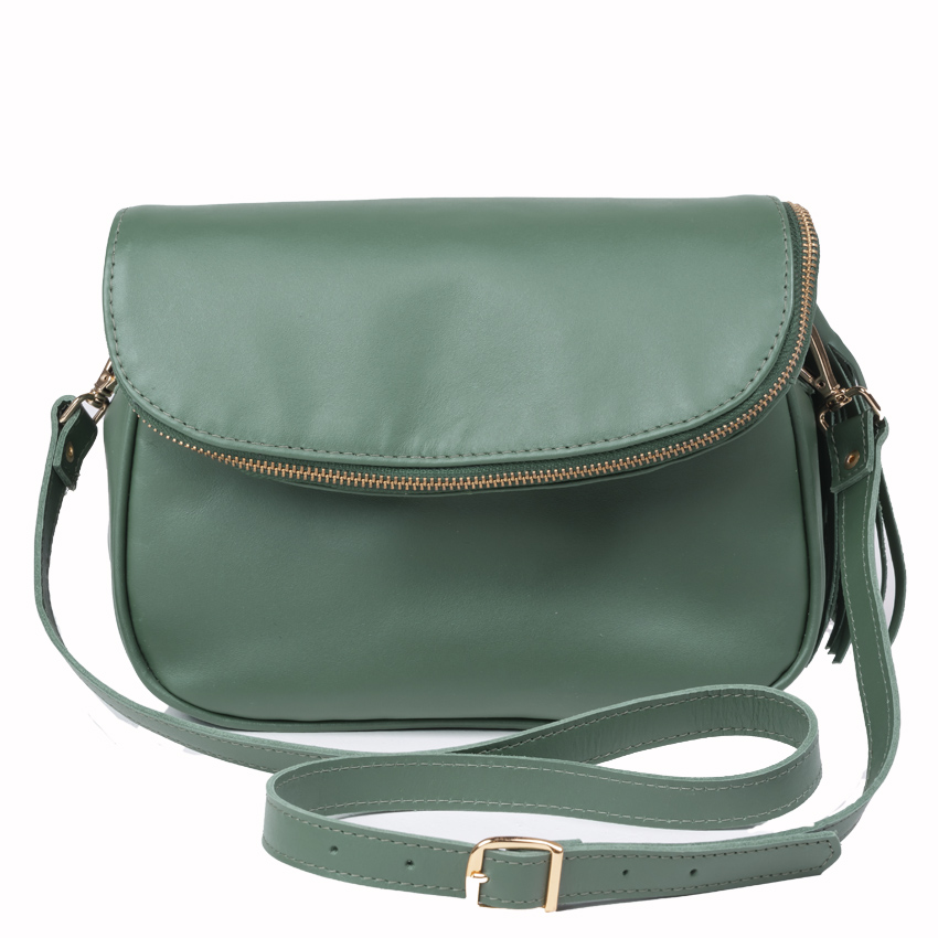Bolsa Couro Pequena Soho Mini Verde Esmeralda