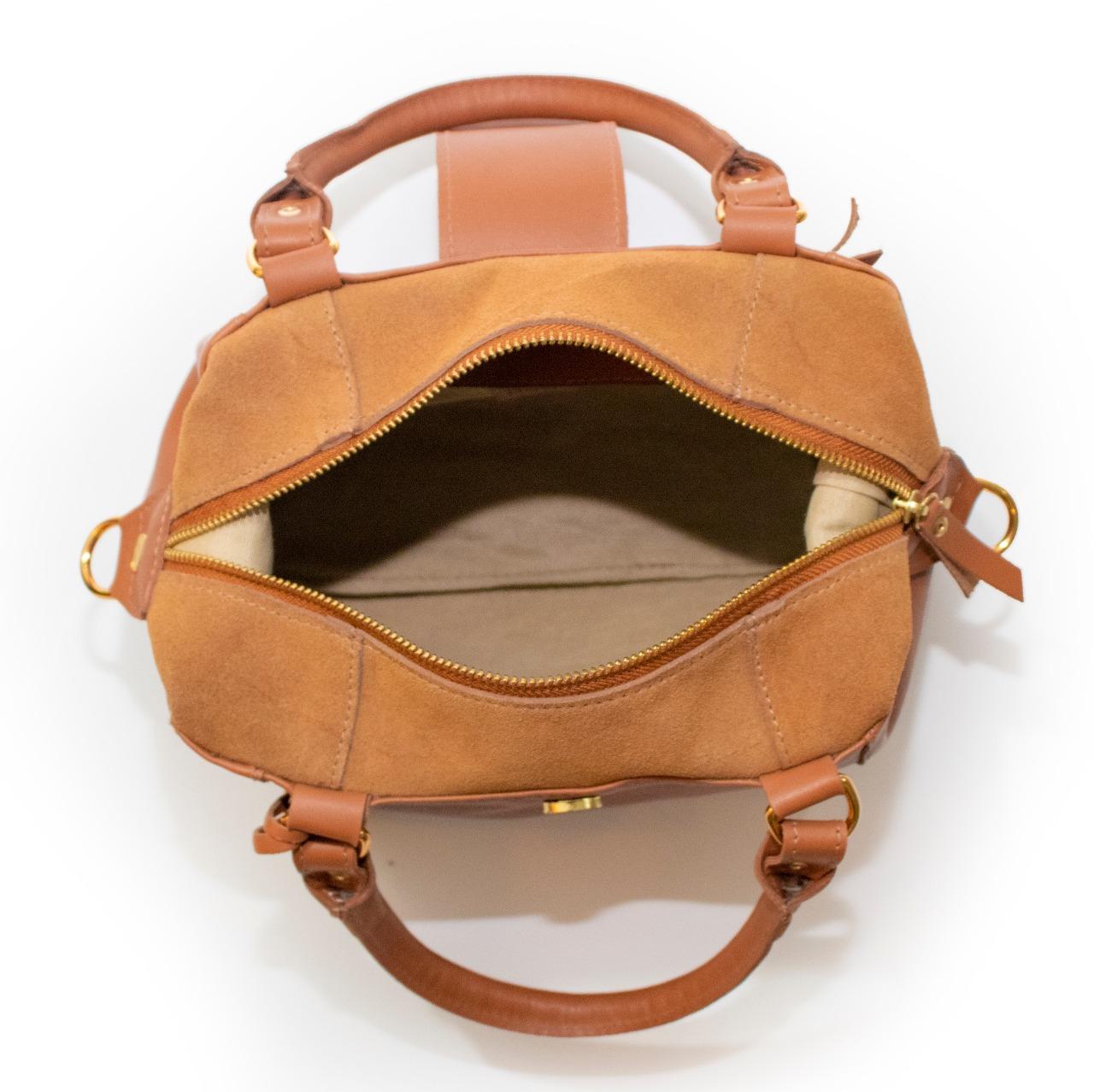 Bolsa de Couro Caramelo Jojo Bag