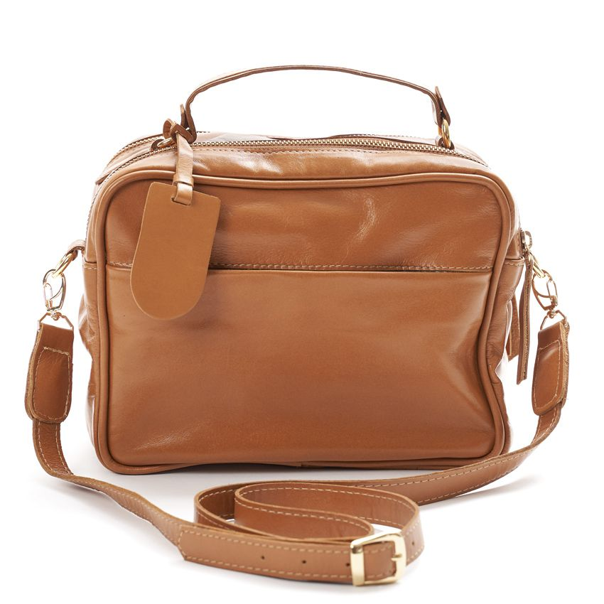 Bolsa de Couro Caramelo Vivi Bag