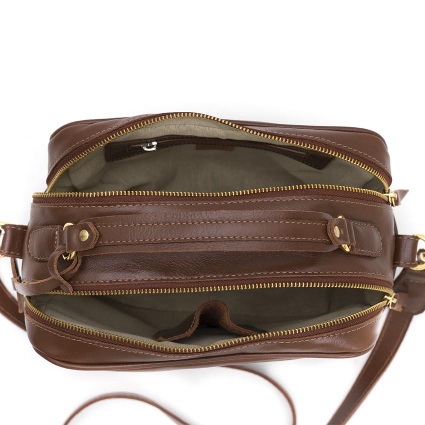 Bolsa de Couro Marrom Vivi Bag