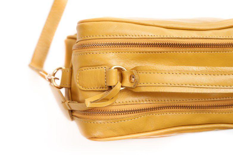 Bolsa de Couro Mostarda Vivi Bag