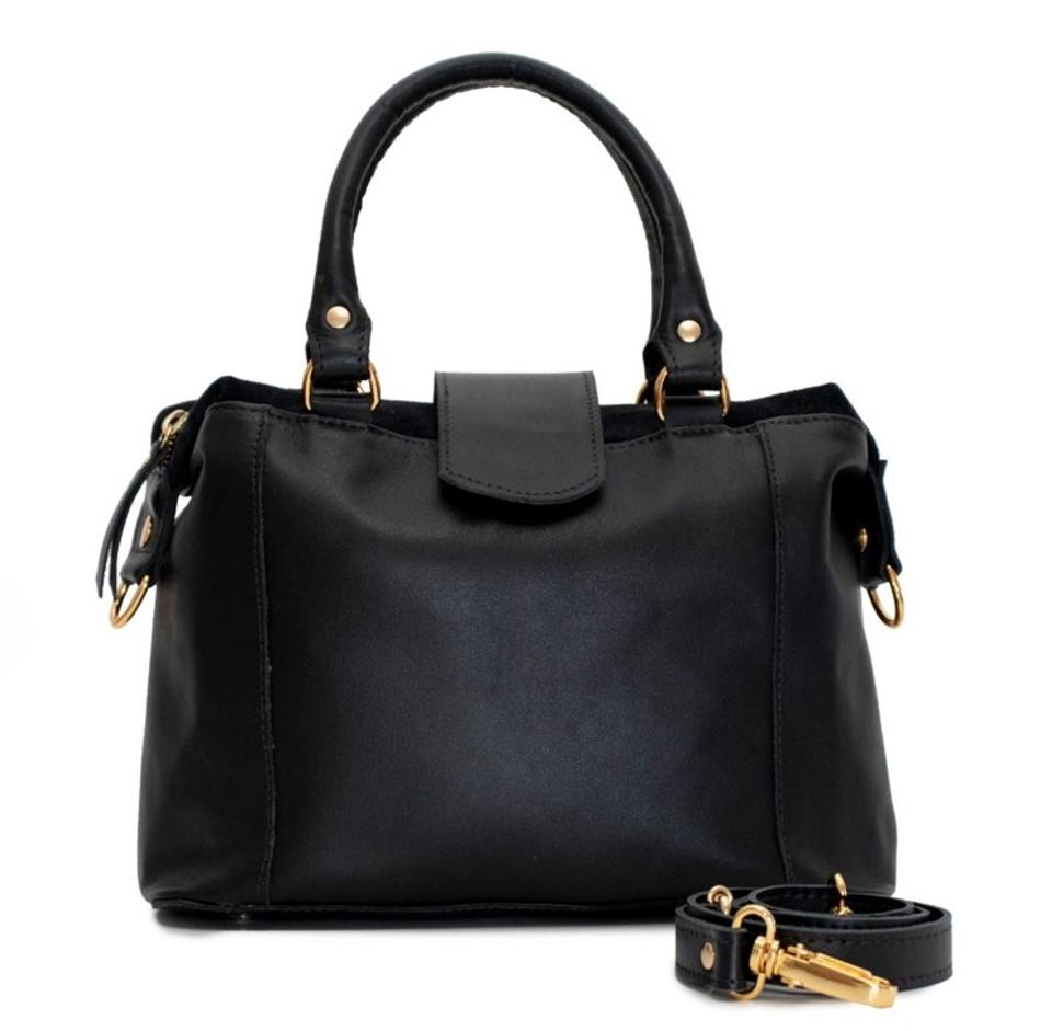 Bolsa de Couro Preta Jojo Bag
