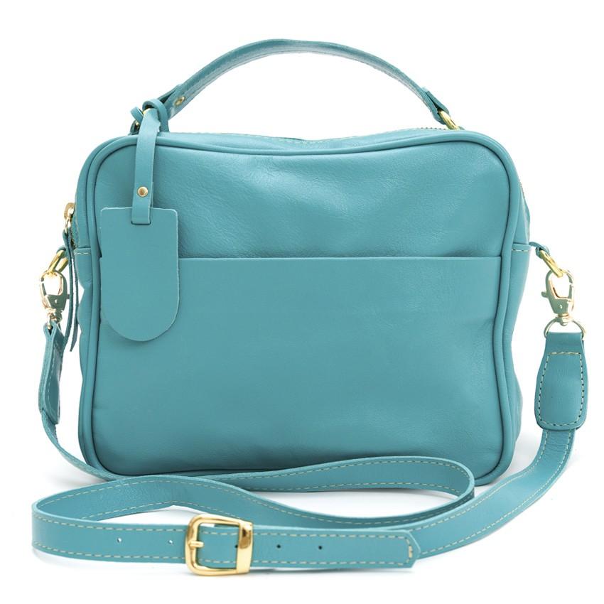 Bolsa de Couro Verde Menta Vivi Bag