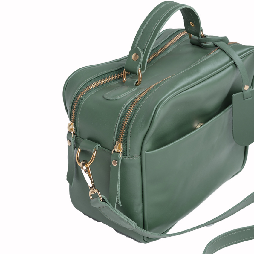 Bolsa de Couro Vivi Bag Verde Esmeralda