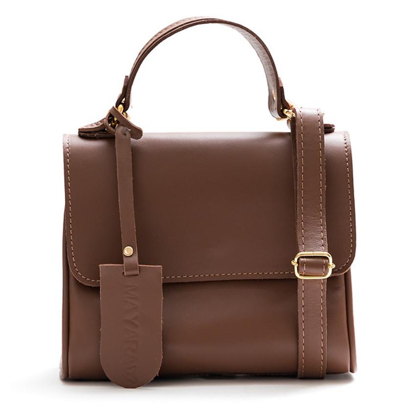 Bolsa Hey bag Couro Pequena Chloe Marrom