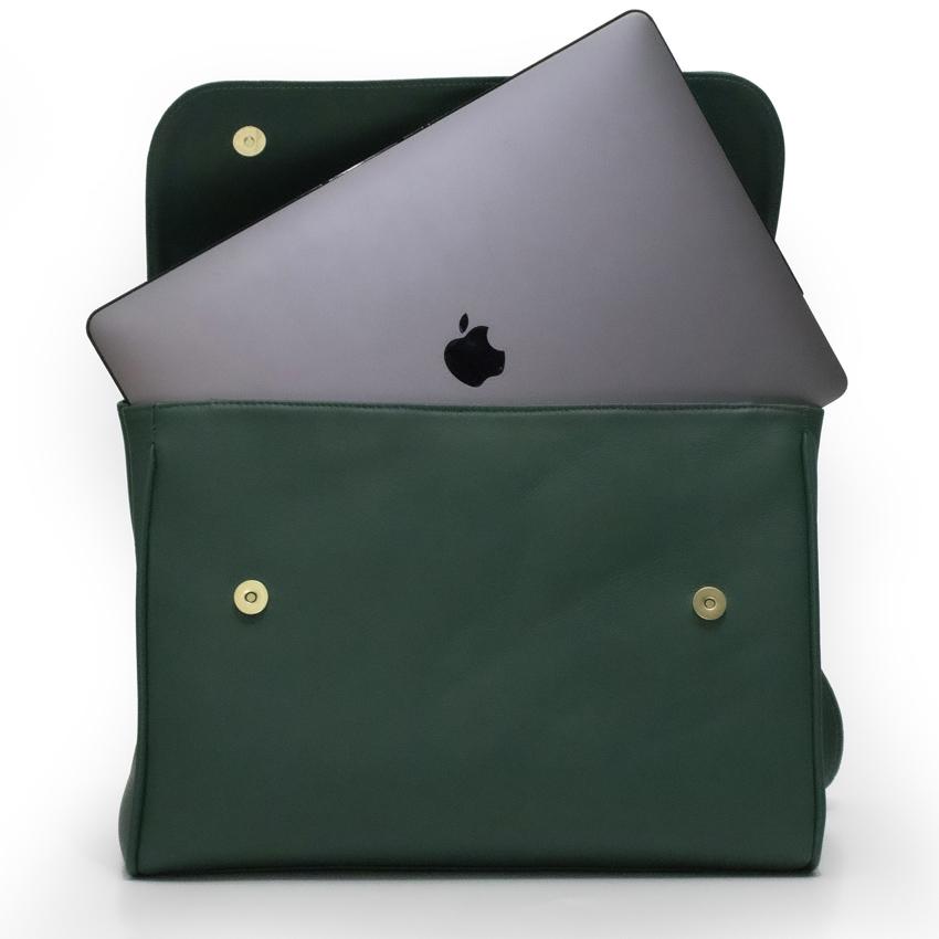 Bolsa para Notebook de couro Legítimo Caramelo