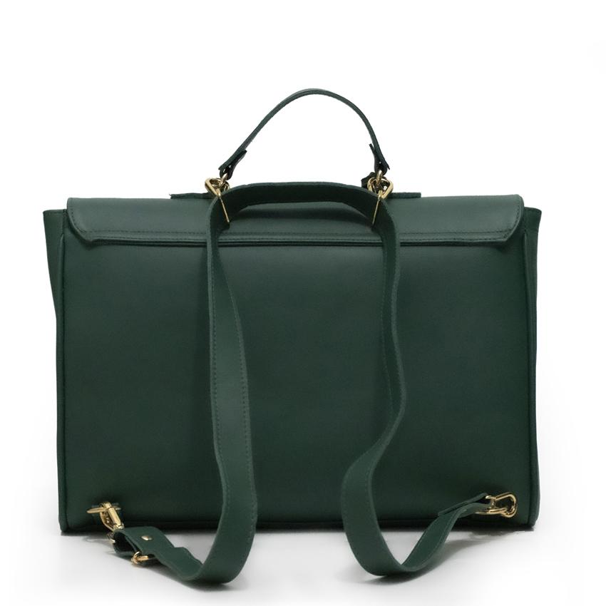 Bolsa para Notebook de couro Legítimo Verde Esmeralda