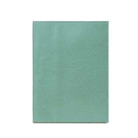 Porta Passaporte Couro Verde Menta