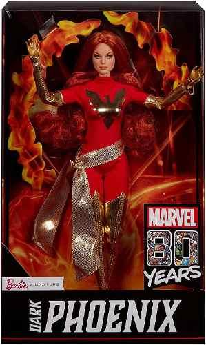 Boneca Barbie Fênix Negra Marvel Collector Top Nova 2019