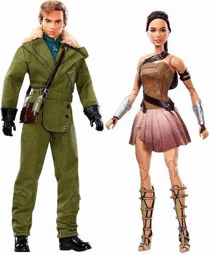 Boneco Ken E Barbie Mulher Maravilha Ilha Paradisiaca Luxo
