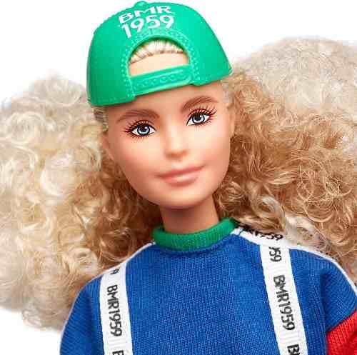 Boneca Barbie Bmr1959 Collector Loira Boné Faixas Articulada
