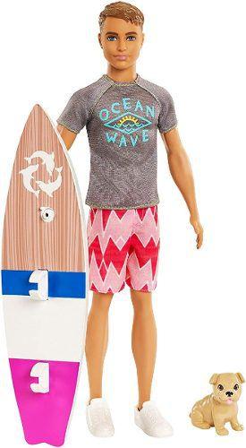 Boneco Ken Barbie Surfista Golfinho Praia Magic Top 2019