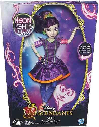 Boneca Disney Descendants Neon Lights Mal Ilha dos Perdidos