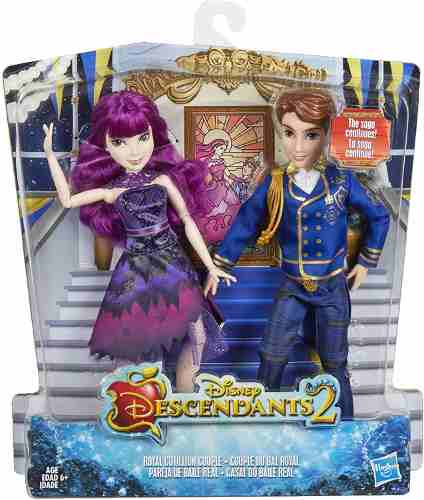 2 Bonecos Disney Descendants Cotillion Casal Real Raros