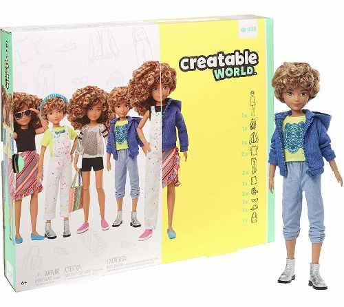 Boneco Creatable World Sem Gênero Loiro Encaracolado Mattel