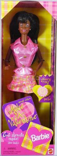 Boneca Barbie Valentine Antiga Rara 1998 Mattel Lacrada