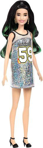 Boneca Barbie Fashionista 110 Oriental Vestido Los Angeles