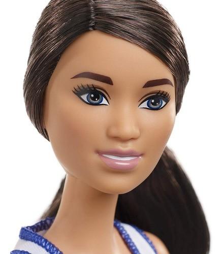 Boneca Barbie 2019 Articulada Morena Jogadora De Basquete