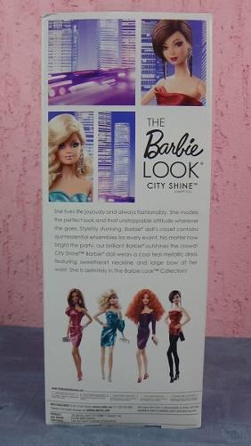 Boneca Barbie Collector The Look City Loira Vestido Azul Top