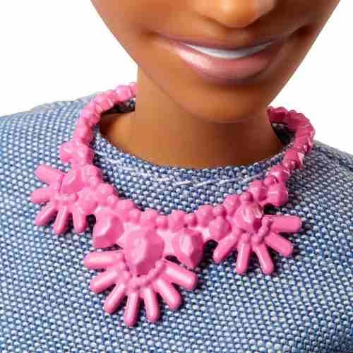 Boneca Barbie Fashionista 82 Morena Negra Careca 2019 Top