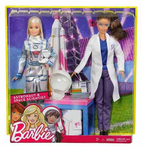 2 Bonecas Barbie 2019 Astronauta E Cientista Raras Top