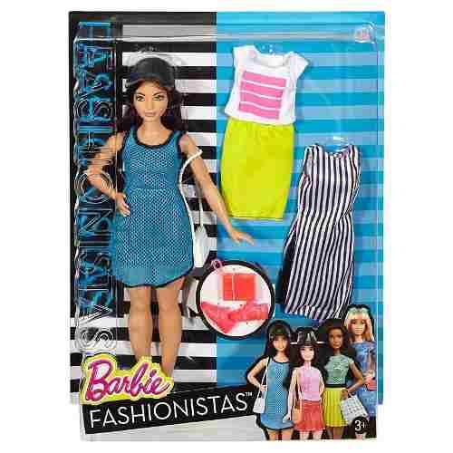 Boneca Barbie Fashionista 38 Curvy Gordinha Vestidos Lindos