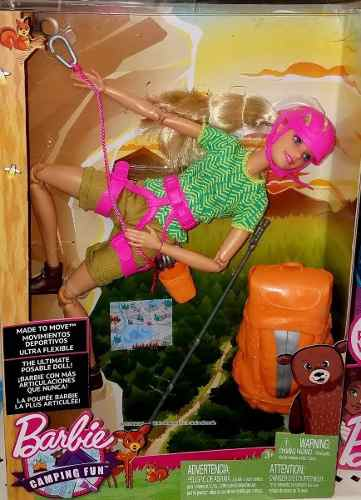 Boneca Barbie Articulada Alpinista Camping Made To Move Top