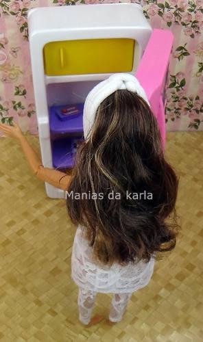 Casa Da Barbie Boneca   Geladeira Rosa Acessórios Top 2019
