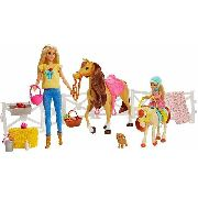 Bonecas Barbie e Chelsea Loiras com Cavalos Articulados Top