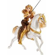 Boneca Barbie Mulher Maravilha Rainha Hippolyta Com Cavalo