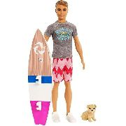Boneco Ken Barbie Surfista Golfinho Praia Magic Top 2019