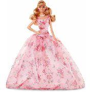 Boneca Barbie Birthday Wishes Loira Vestido Rosa Top Rara