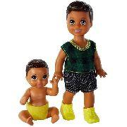 Bonecos Barbie Skipper Babysitters Moreno Filho Criança Top