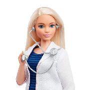 Boneca Barbie Fashionista Profissões Curvy Doutora Top 2019