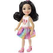 Boneca Barbie Club Chelsea Colorida Gato Sorvete Top 2019
