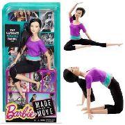 Boneca Barbie Made To Move Articulada Japonesa Purple Top
