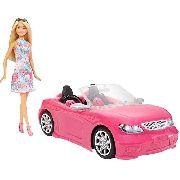 Carro Da Barbie Conversível De Luxo E Boneca Official Mattel