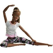Boneca Barbie Articulada Negra Yoga Made To Move Top Eua
